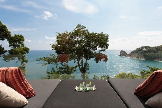 Terrace of living room at villa 3, Samsara private estate, Kamala, Phuket, Thailand