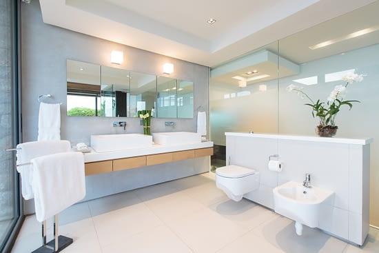 Master bathroom at villa 3, Samsara private estate, Kamala, Phuket, Thailand