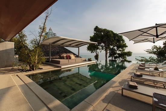 Swimming pool at villa 3, Samsara private estate, Kamala, Phuket, Thailand