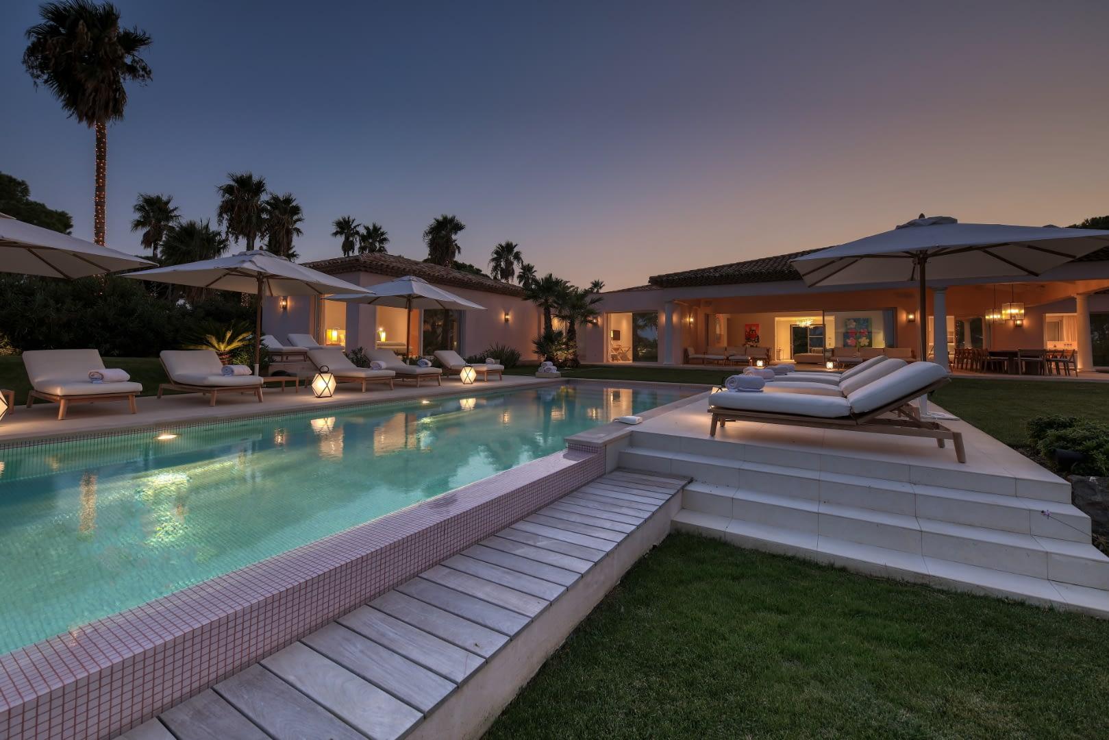 Elegant Villa with Panoramic Views of Pampelonne Beach, St Tropez, France