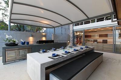 BBQ area and outdoor dining at villa 3, Samsara private estate, Kamala, Phuket, Thailand