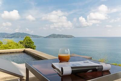 Terrace of master bedroom at villa 3, Samsara private estate, Kamala, Phuket, Thailand