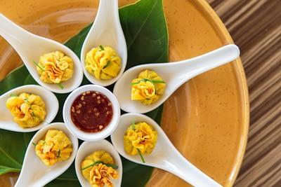 Thai cuisine served at villa 3, Samsara private estate, Kamala, Phuket, Thailand